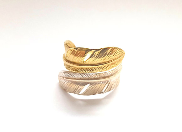 Two-Tone Feather Ring