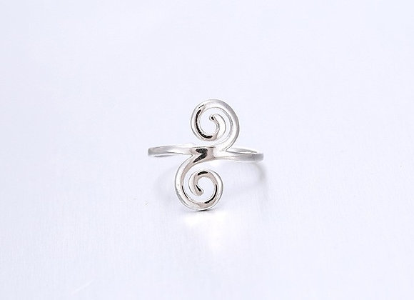 Silver Celtic Spiral Ring (One Size)
