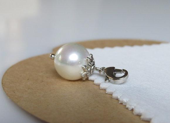 Silver Pearl Dangle