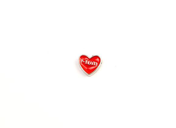 Mum Heart Red