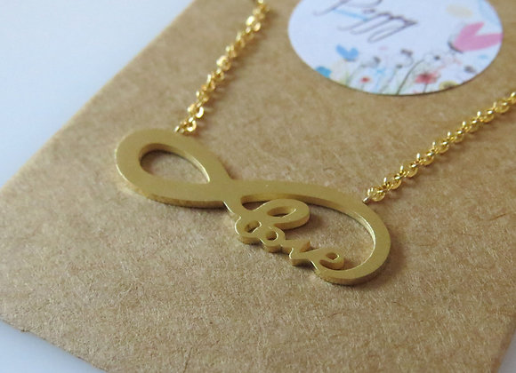 Love to Infinity Necklace Gold