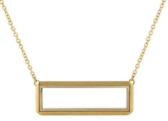 Rectangular Locket in Gold