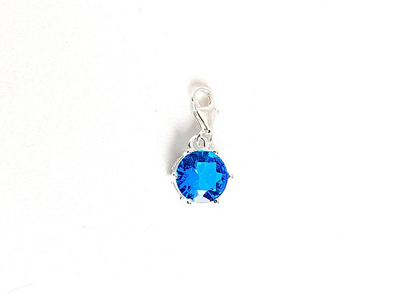 Blue Topaz Dangle Charm