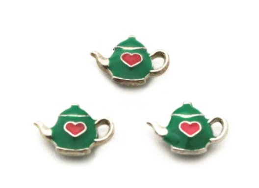 Teapot Charm- Green