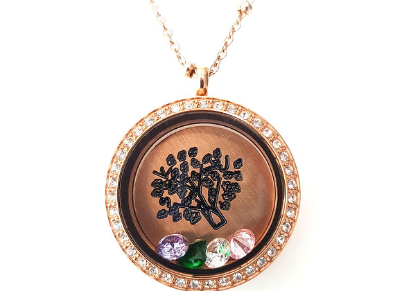 Etch-a-Sketch Family Tree Locket
