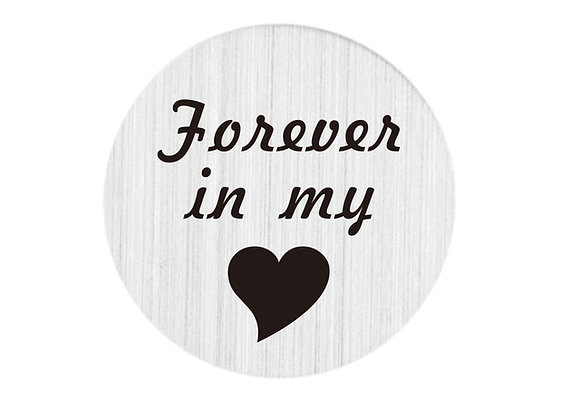 Forever in my Heart Backing Plate