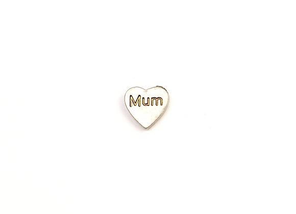 Mum Heart Silver