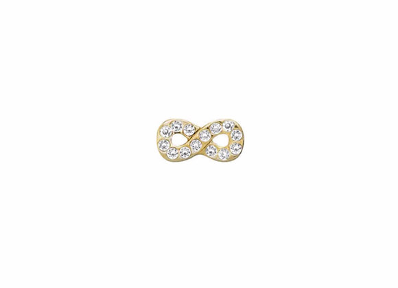 Infinity Charm with Crystals (gold or silver)