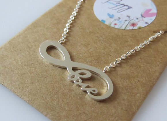 Love to Infinity Necklace Silver