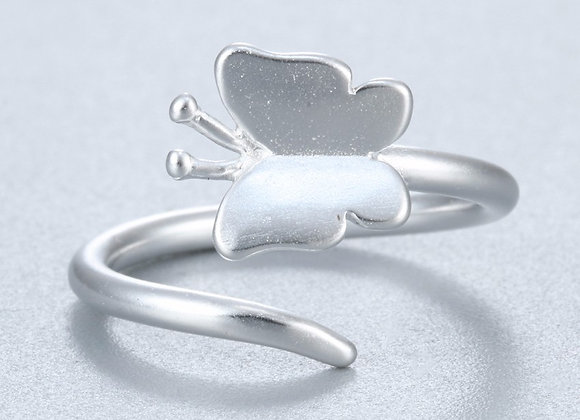 Silver Butterfly Ring (One Size)