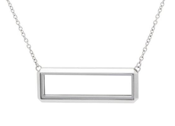 Rectangular Locket in Silver