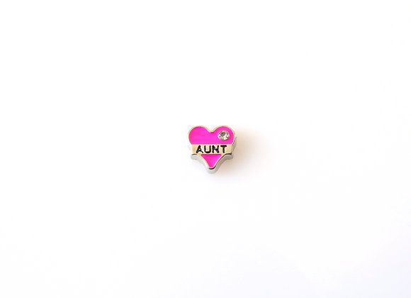 Aunt Heart Charm Pink