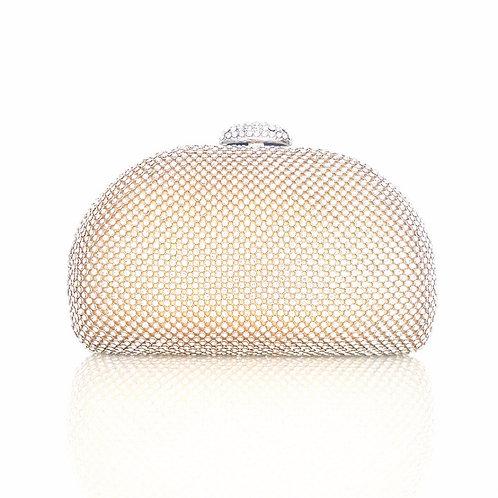 Hepburn Gold Crystal Clutch Bag