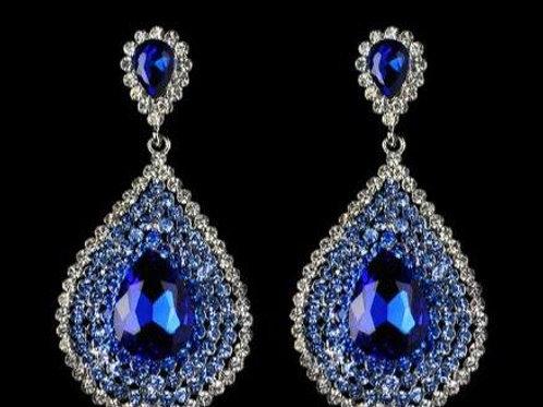 Aquarius Earrings- Royal Blue