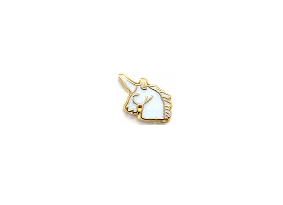 White & Gold Unicorn Charm