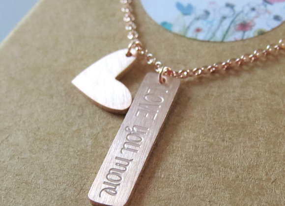 Love You More Necklace Rose Gold