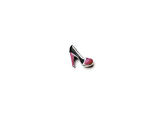 Pink & Black Heeled Shoe Charm