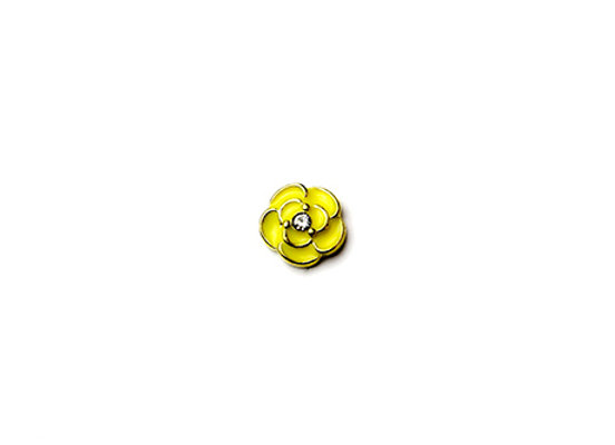 Yellow Rose Flower Charm