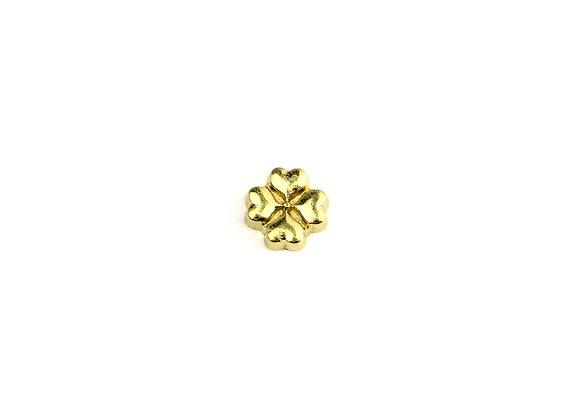 Four Leaf Clover Charm- Gold