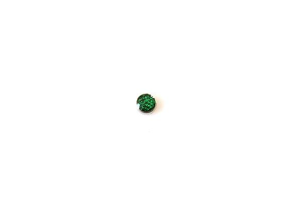 Glittering Emerald Green Charm