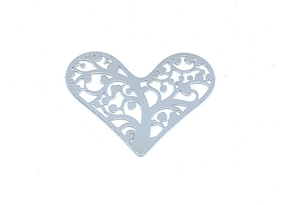 Love Blossoms Heart Tree Plate- Silver