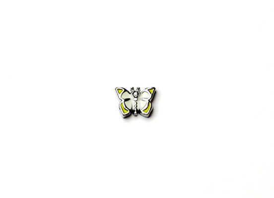 Yellow & White Butterfly Charm