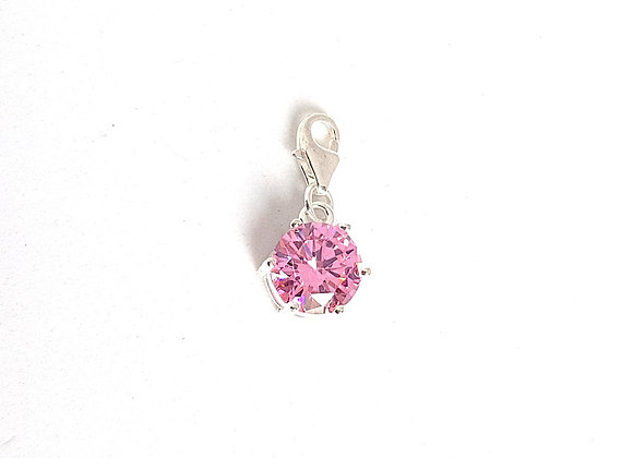 Pink Crystal Dangle Charm
