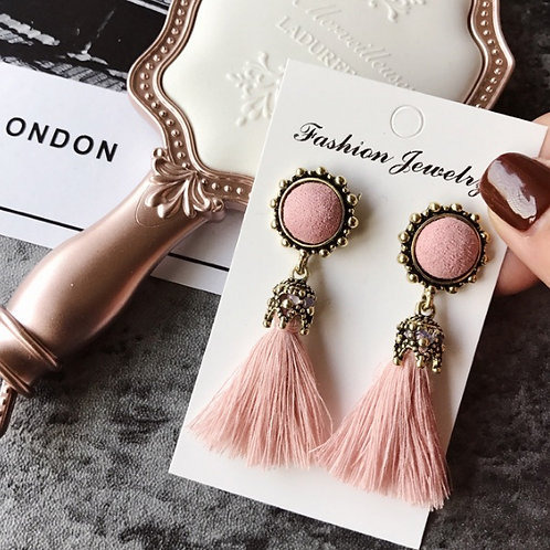 Jennifer Earrings- Pink