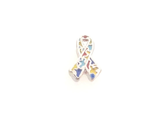 Autism Awareness Jigsaw Ribbon Charm
