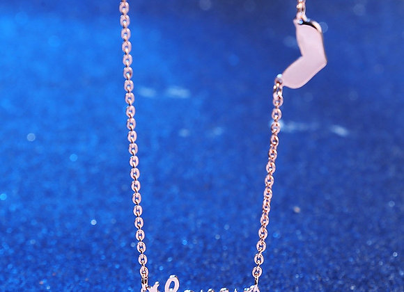 LoveU Necklace Rose Gold