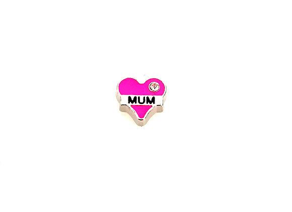 Mum Heart Pink