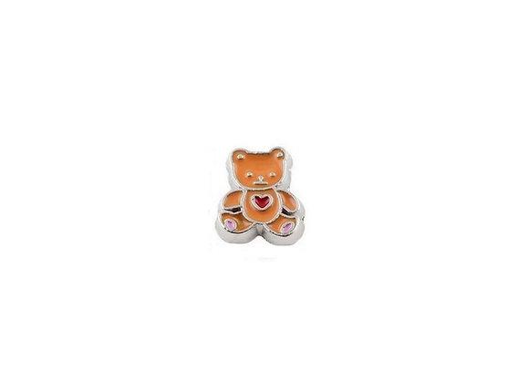 Teddy Bear Charm Brown