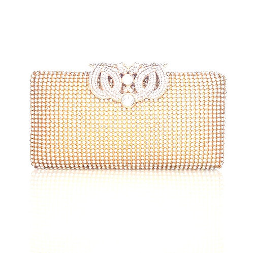 Taylor Crystal Clutch Bag Gold