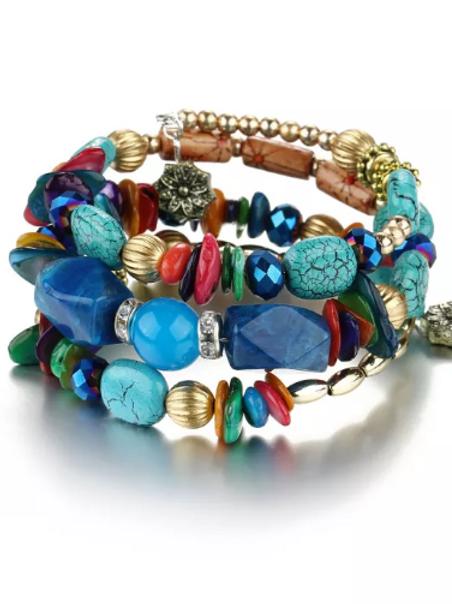 Envy Wrap Bracelet (Blue)