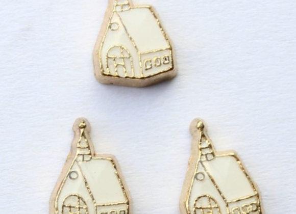 White and Gold Church/Chapel Wedding Charm