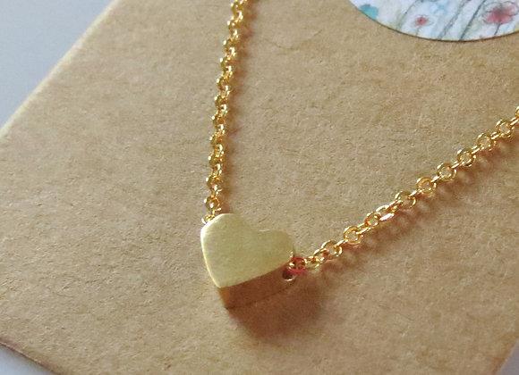 Heart Pendant Necklace Gold