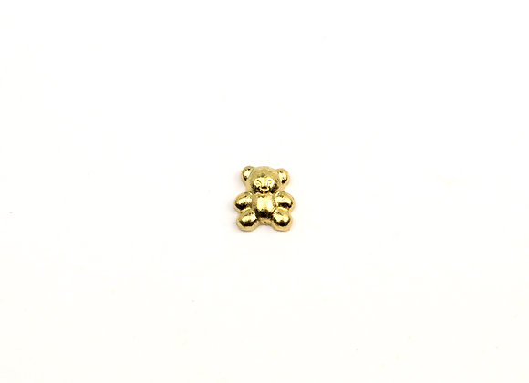 Golden Teddy Bear Charm