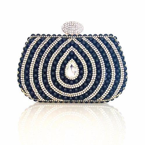 Monroe Black Pearl & Crystal Clutch Bag