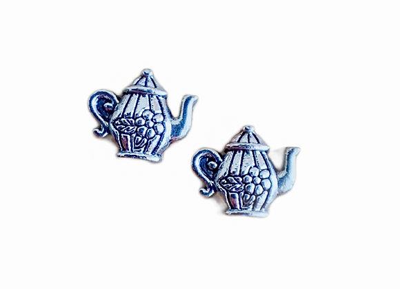 Teapot Charm- Silver