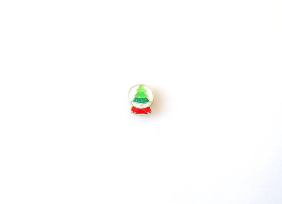 Christmas Tree Snow Globe Charm