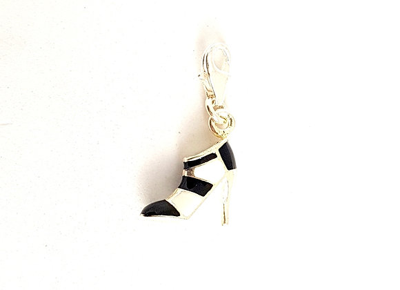 B&W Shoe Dangle Charm
