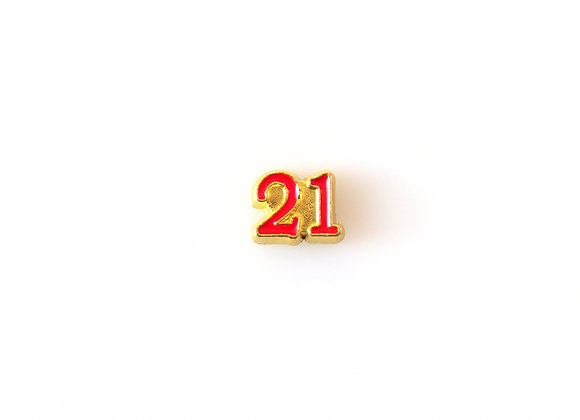 Red '21' Charm