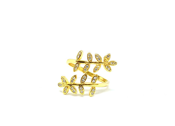 Wrap-Around Leaf Ring- Gold