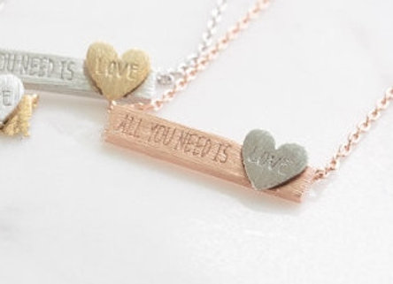 All You Need is Love Necklace Rose Gold