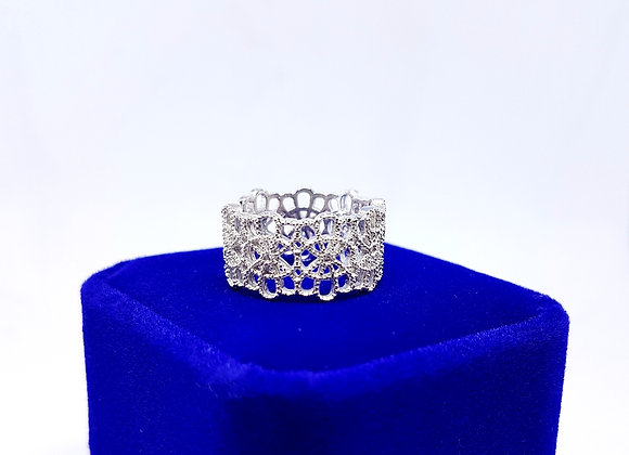 Floral Infinity Lace Ring
