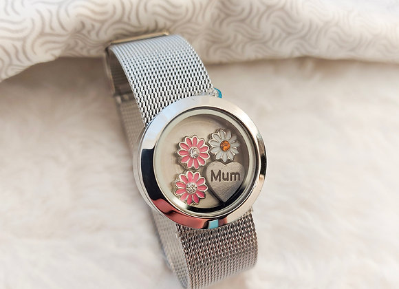Flowers for Mum Midi Mesh Bracelet Locket
