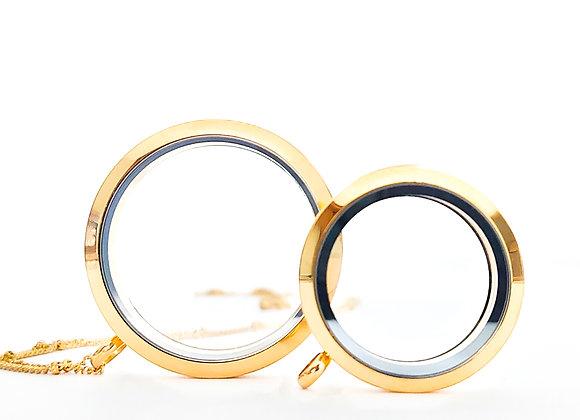 38mm (XXL) Gold Locket