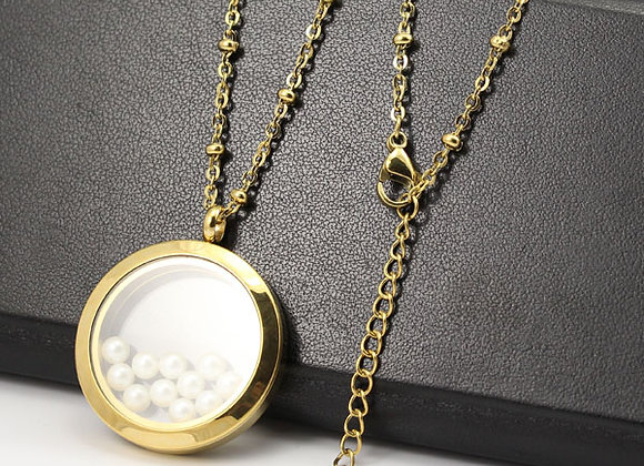 45-80cm Gold Flat Beaded Chain (From €10.00)