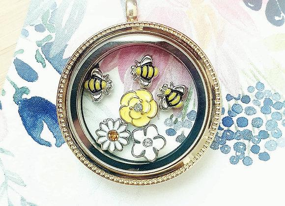 Beautiful Bees Locket