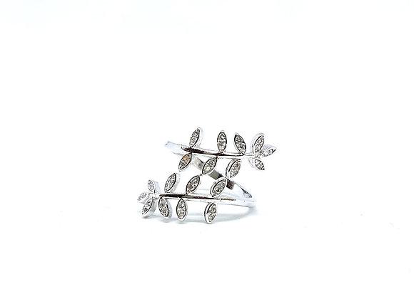 Wrap-Around Leaf Ring- Silver